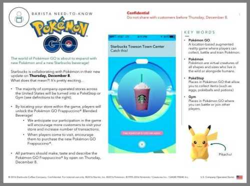 Pokemon Go Ties Up with Starbucks