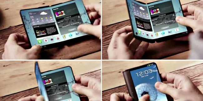 Samsung Galaxy S8 Foldable Screen