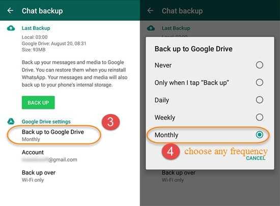 WhatsApp Backup on Google Drive