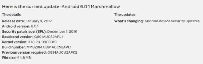 Galaxy S7 Active Update