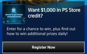 Playstation store credit