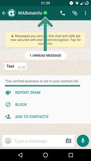WhatsApp Beta Business Accounts
