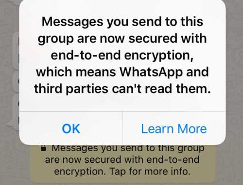 Whatsapp Encrypted Messages