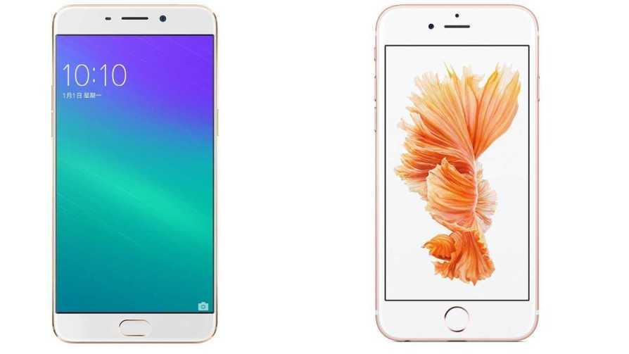 Apple iPhone 6s vs Oppo R9