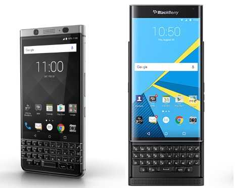 BlackBerry Priv vs BlackBerry KEYone