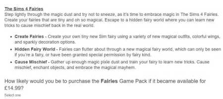 The Sims 4 Fairies Game Pack