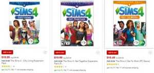 The Sims 4 Game Pack Discount