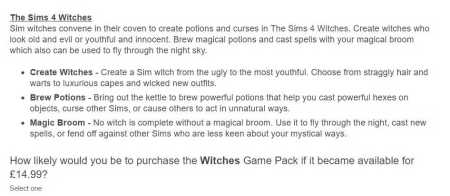 The Sims 4 Witches Game Pack