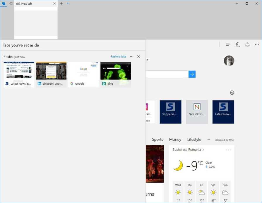 Windows 10 Default Browser Edge New Features : Microsoft