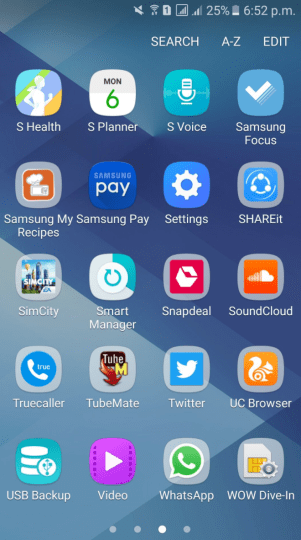 Samsung Pay on Samsung Galaxy A7 2016