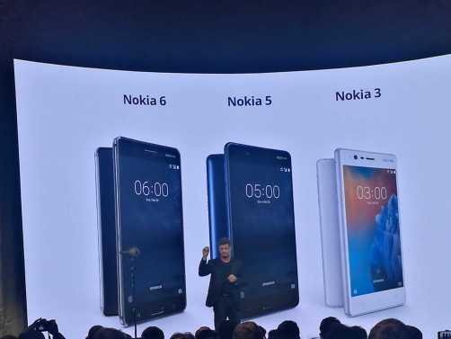 Nokia 3310, Nokia 3, Nokia 5, Nokia 6