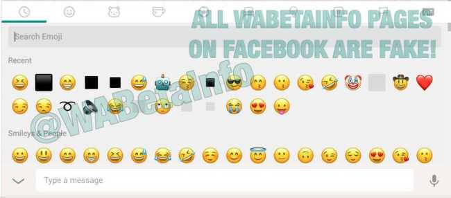 WhatsApp Web 0.2.3951 all emojis