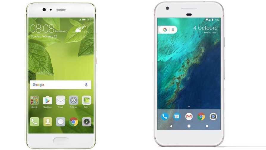 Google Pixel and Huawei P10