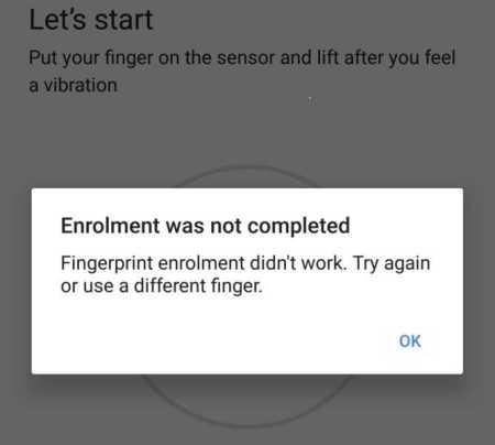 Google Pixel Fingerprint Sensor Problem
