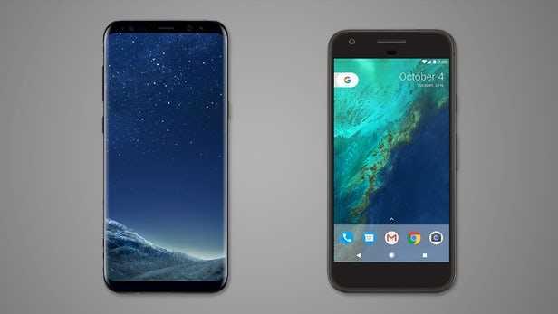 Samsung Galaxy S8+ vs Google Pixel XL