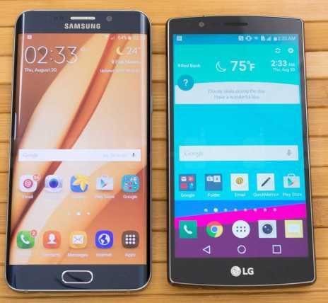 Samsung Galaxy S6 edge+ and LG G4