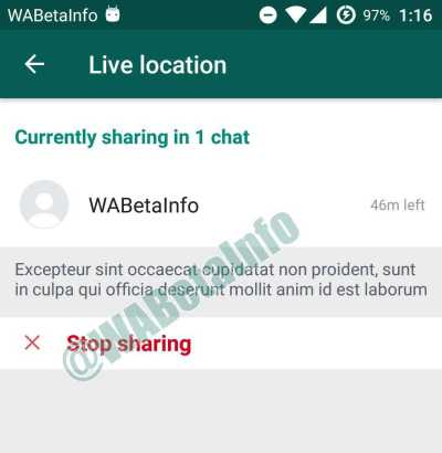 WhatsApp Live Location