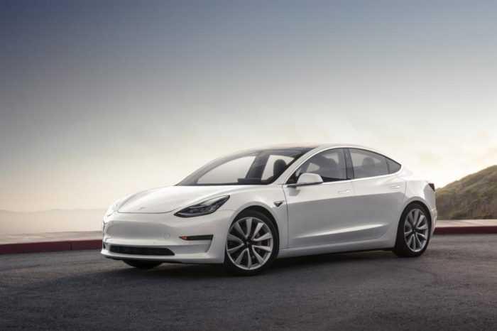Tesla Model 3 montain pearl