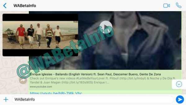 Whatsapp iOS youtube