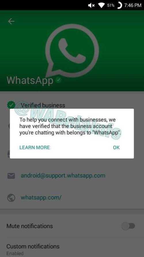 Whatsapp Verified Business Accounts