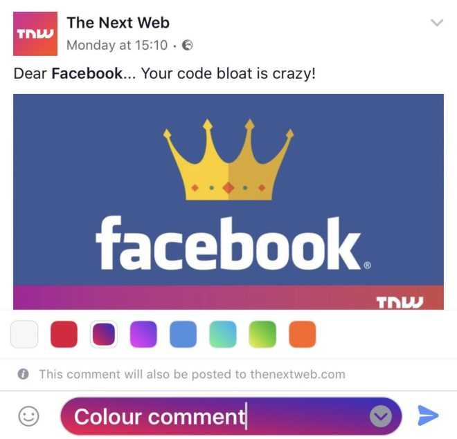 Facebook is Testing Colored Text Backgrounds