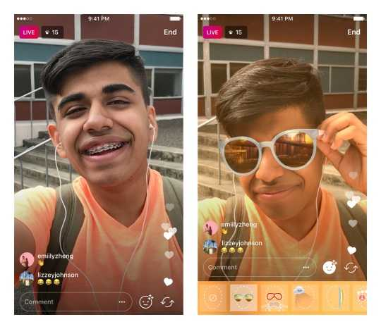Instagram Live Face Filters