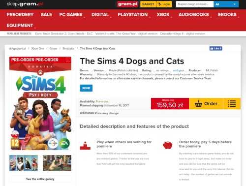 Sims  Cats And Dogs November Th