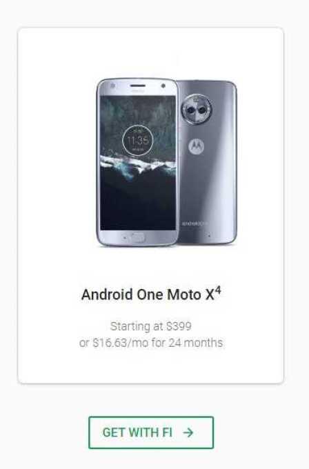 Moto X4 Project Fi