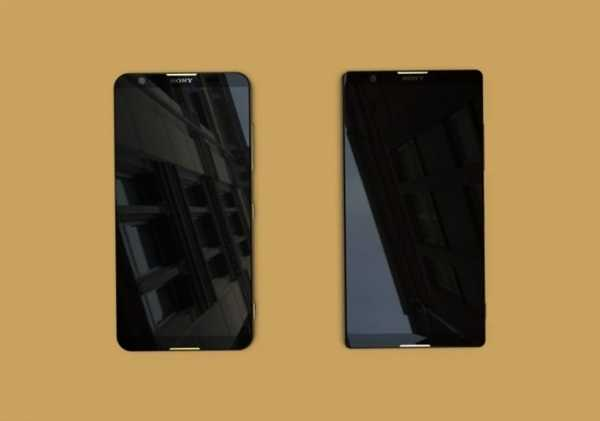 Sony Xperia bezel-less phones