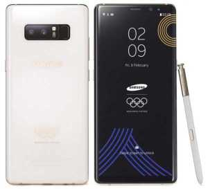 Samsung Galaxy Note 8 2018 Winter Olympics Games Edition Officially Announced