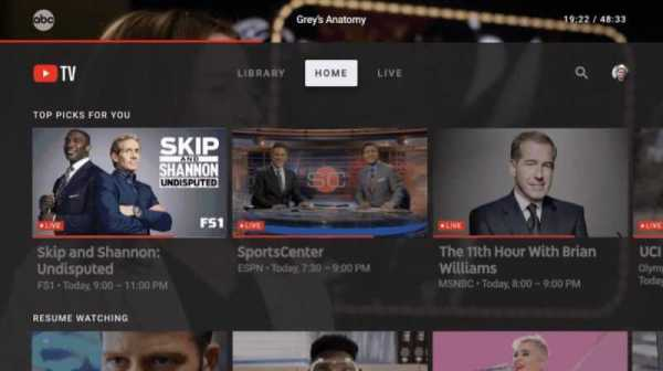 Youtube TV App Lands on Apple TV Right Before Super Bowl