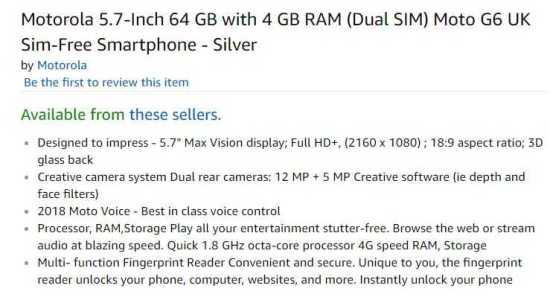 Moto G6 Amazon