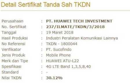 Huawei ATU-L22