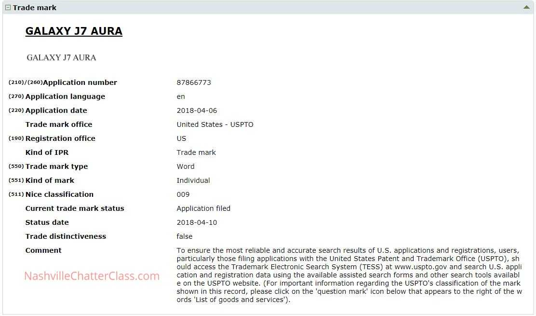 Samsung Files Trademark for 2 New Galaxy J-Series Phones - J3 Aura