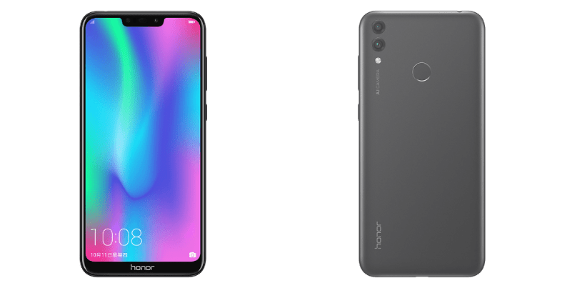 Honor 8C front and rear