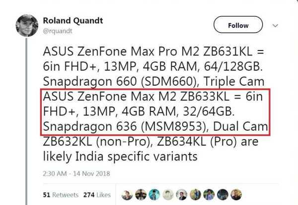 ASUS ZenFone Max M2 twitter