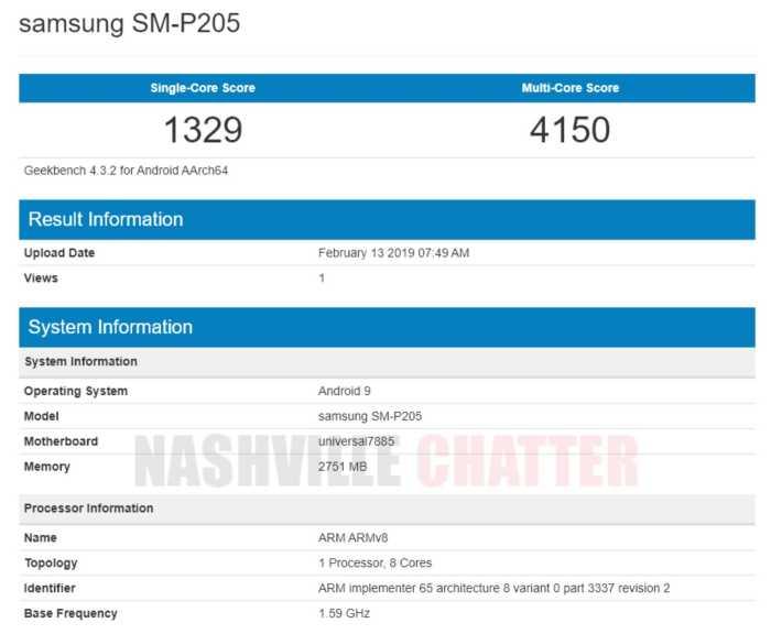 Samsung SM-P205