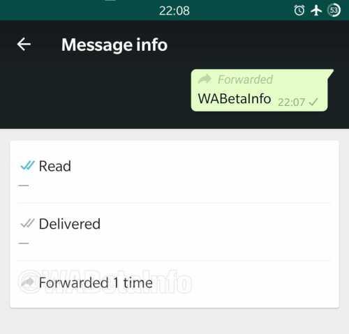 Whatsapp forward mesage