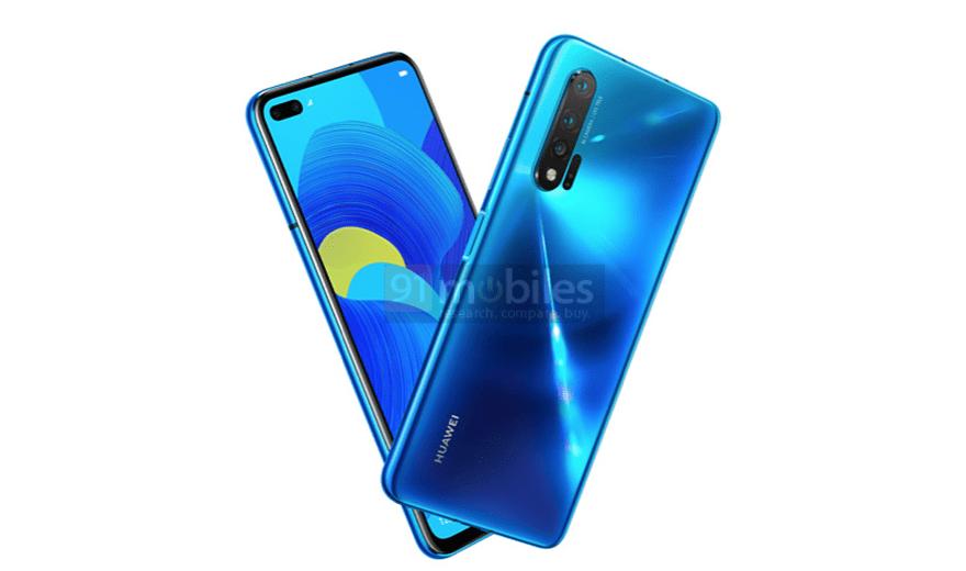Huawei Nova 6 5G render
