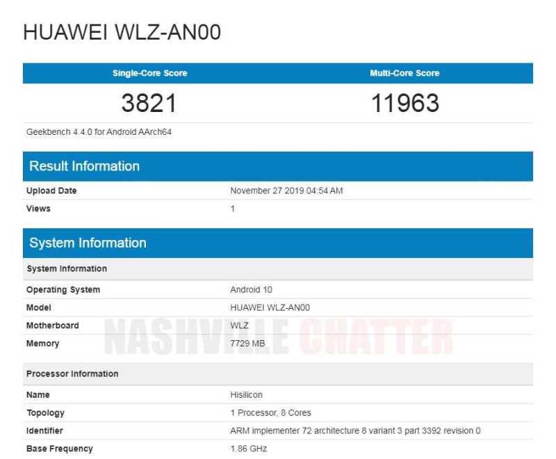 Huawei WLZ-AN00