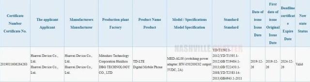 Huawei MED-AL00