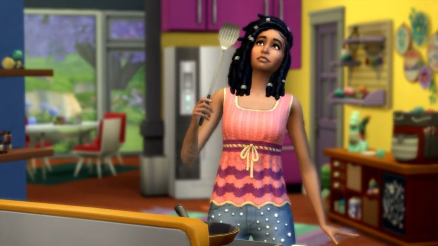 The Sims 4 knitting trailor