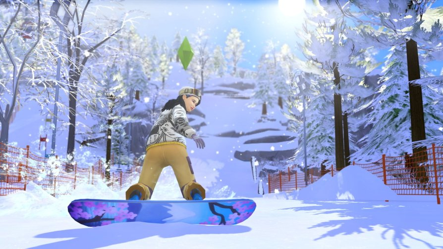 Sims 4 snowy escape