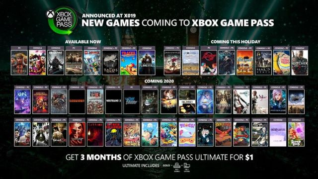 Xbox Game Pass new titles