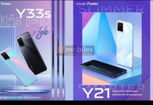 Vivo Y21 and Y33s renders