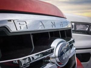 Ford Ranger Logo on a Car
