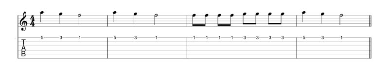 example - single string