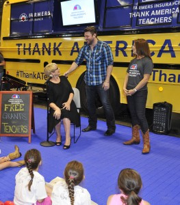 at the Farmers Insurance Thank America's Teachers At CMA Fest on June 13, 2015 in Nashville, Tennessee.