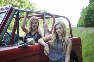 "Maddie & Tae's ""Girl In A Country Song"" (directed by TK McKamy) was named CMA Music Video of the Year live on ""Good Morning America"" Wednesday from the Bridgestone Arena Plaza in Nashville. Photo Credit: Allister Ann"