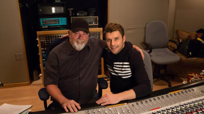 James Stroud and Robby Johnson in the studio.
